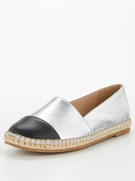 v-by-very-toe-cap-espadrille-silver