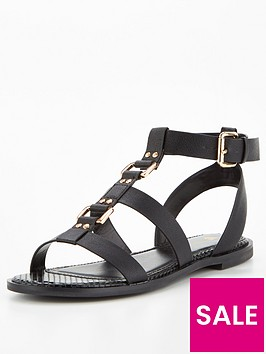 v-by-very-hurricane-metal-trim-gladiator-sandal-black