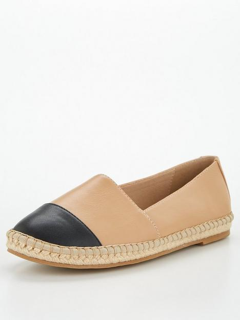 v-by-very-toe-cap-espadrille-nude