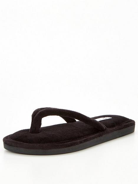 v-by-very-toe-post-slipper-black