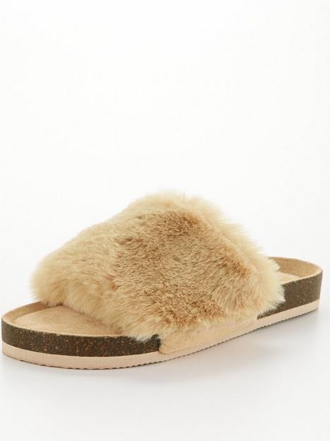 v-by-very-faux-fur-slider-slipper-camel