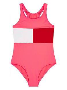 tommy-hilfiger-girls-colour-block-swimsuit-watermelon-pink