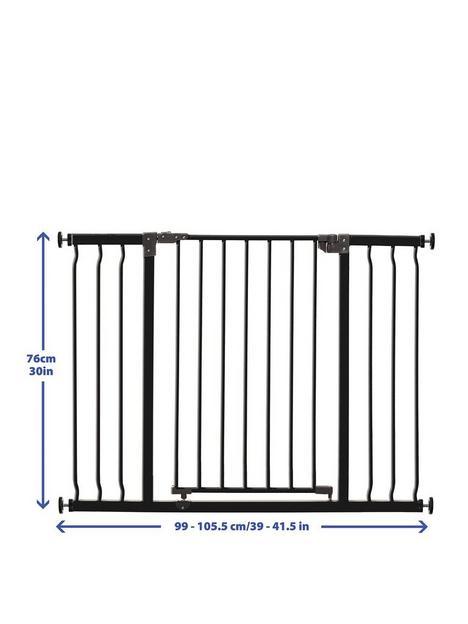 dreambaby-liberty-xtra-wide-hallway-gate-99-1055cm--nbspblackmetal