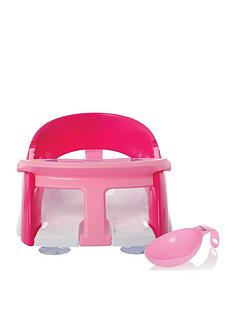 dreambaby-premium-bath-seat-with-bonus-xtra-large-water-scoop-and-front-t-bar-pink