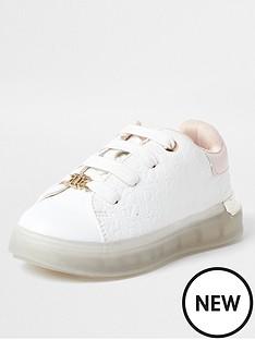 river-island-mini-mini-girls-monogram-trainers-white