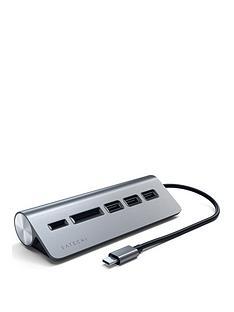 satechi-type-c-aluminium-usb-hub-card-reader-space-grey