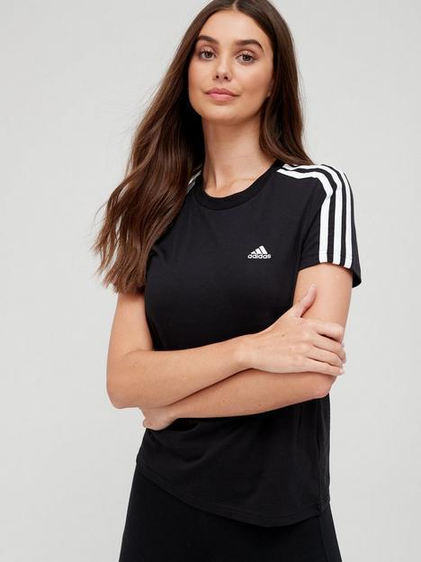 adidas-3-stripe-t-shirt-blackwhite