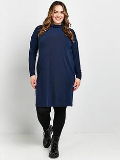 evans-cowl-tunic-dress-navy