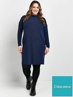 evans-cowl-tunic-dress-navy