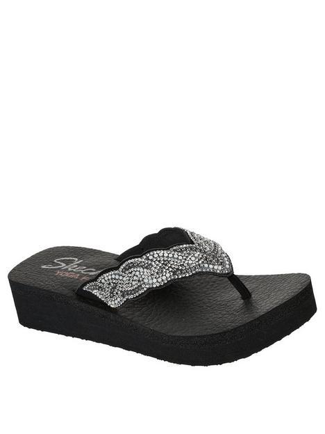 skechers-vinyasa-rhinestone-and-pearl-swirl-flip-flop-black