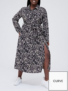 ax-paris-curve-printednbspsplit-shirtnbspdress-printed