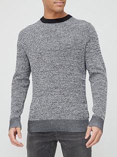 calvin-klein-cotton-silk-texture-knitted-jumper-blackgrey