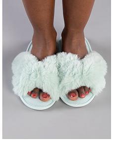 boux-avenue-knot-twist-faux-fur-slider-slipper-mintnbsp