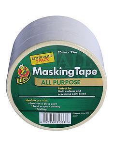 duck-tape-duck-all-purpose-masking-tower-25mm-x-25m-3pk