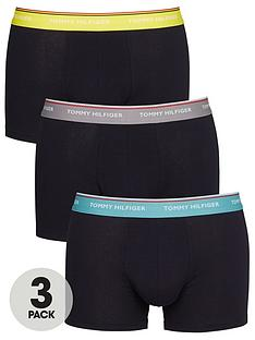 tommy-hilfiger-3-pack-contrast-waistband-trunks-navy