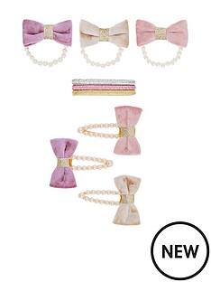 monsoon-girls-pearl-velvet-bow-hair-set-multi