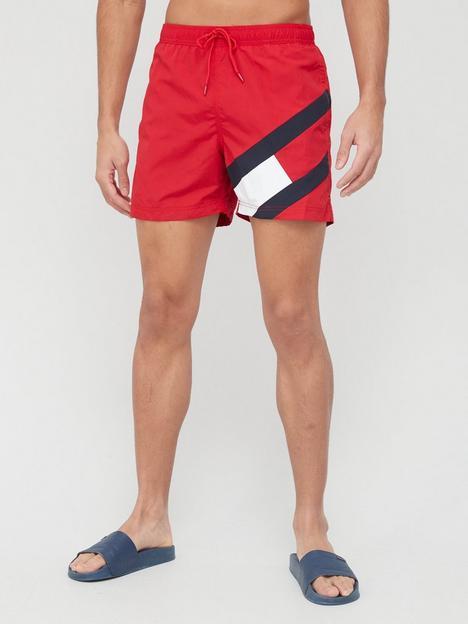 tommy-hilfiger-slim-fitnbspmedium-drawstring-swim-shorts-rednbsp