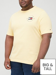 tommy-hilfiger-big-amp-tallnbspcircle-chest-corporate-logo-t-shirt-yellownbsp