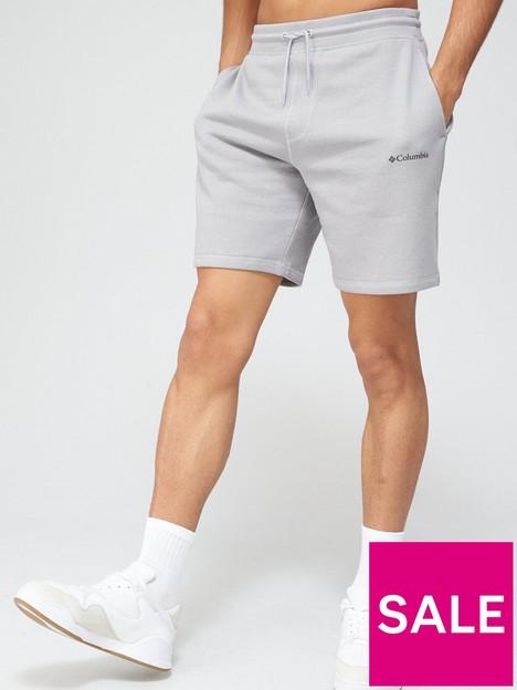 columbia-logo-fleece-short-grey-heather