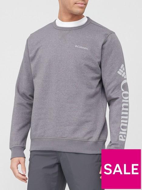 columbia-logo-fleece-crew-grey