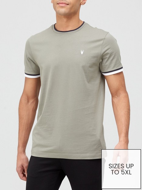 very-man-tipped-t-shirt-khaki