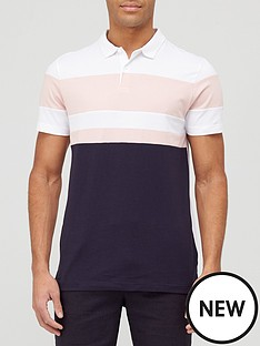 very-man-colour-block-polo-pinknavynbsp