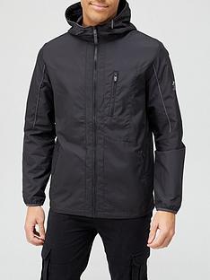 prod1090276300: Light Weight Hooded Jacket - Black