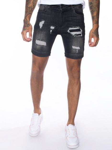 11-degrees-11-degrees-rip-repair-skinny-denim-shorts