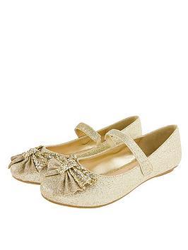 monsoon-girls-glitter-bow-ballerina-shoes-gold