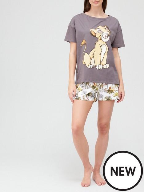 v-by-very-disney-lion-king-shorty-pyjamas