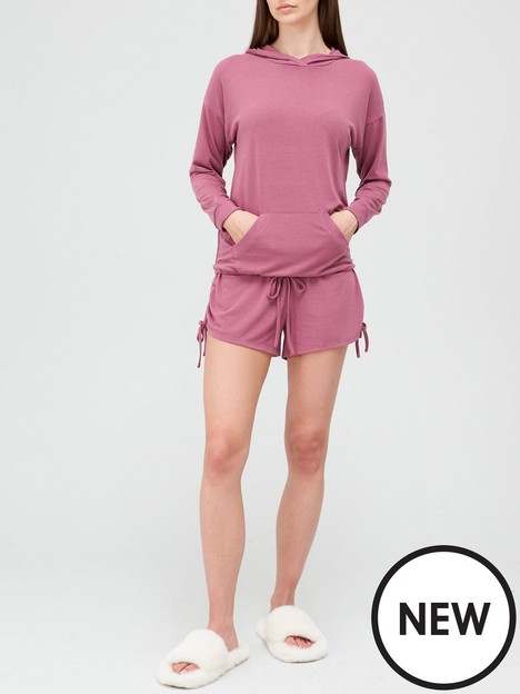 v-by-very-hoodie-and-shorts-pyjamas-purple