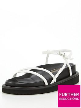 kurt-geiger-london-orson-strappy-flat-sandal--nbspwhite