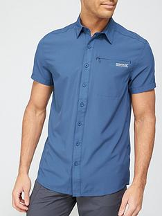 regatta-kioga-short-sleevenbspshirt-blue