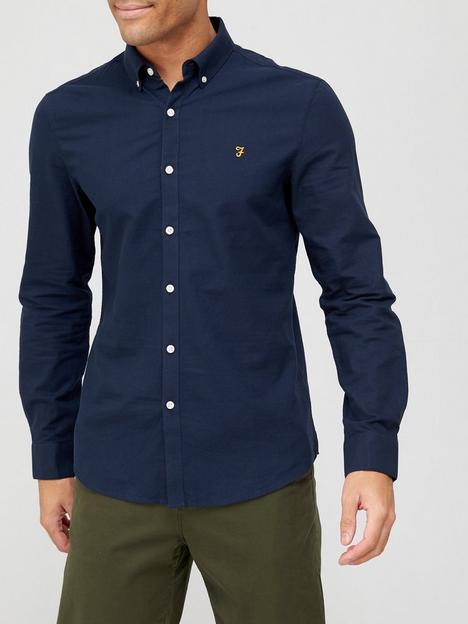 farah-brewer-oxford-shirt-navy