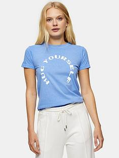 topshop-hug-yourself-tee-blue