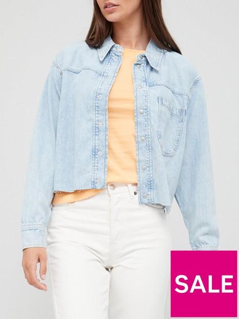 calvin-klein-jeans-cropped-dad-shirt-bluenbsp