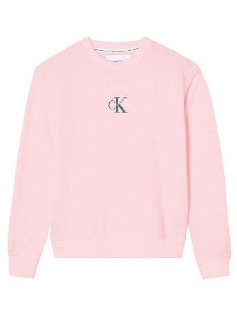 calvin-klein-jeans-monogram-logo-crew-neck-pink