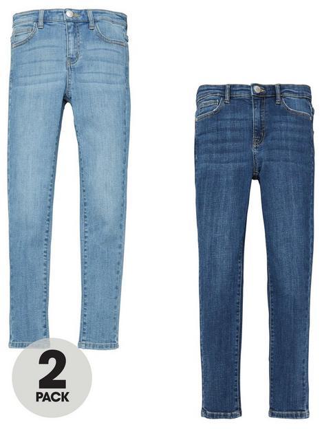 v-by-very-girls-2-pack-skinny-jeans-blue