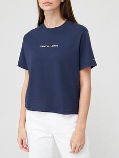 tommy-jeans-boxy-fit-crop-linear-logo-t-shirt-navy