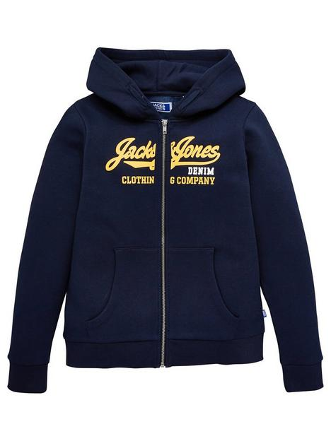 jack-jones-junior-boys-essential-zip-through-hoodienbsp--navy-blazer