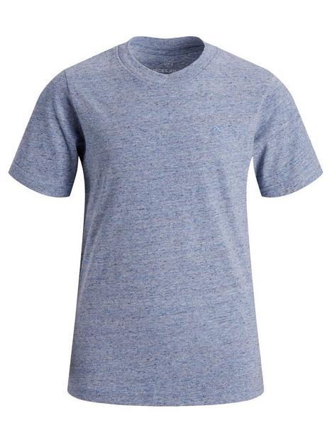 jack-jones-junior-boys-essential-melange-short-sleeve-t-shirt-faded-denim-melange