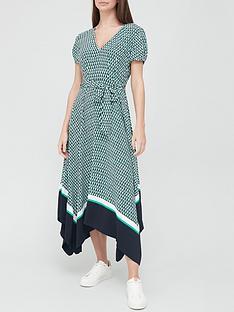 tommy-hilfiger-poplin-printed-midi-dress-turquoise
