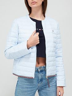 tommy-hilfiger-essential-collarless-quilted-down-jacket-blue