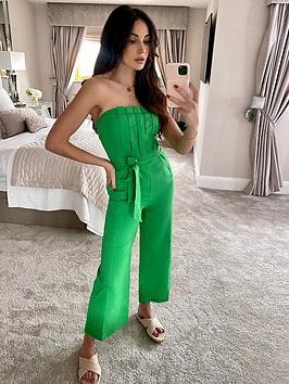 michelle-keegan-pleated-top-cropped-leg-jumpsuit-green