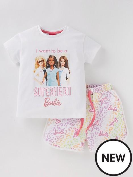 barbie-girls-barbie-2-piece-superhero-t-shirt-and-sweat-short-set-multi