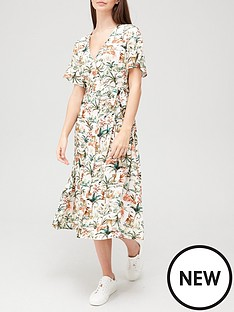 v-by-very-v-neck-button-through-midi-dress-print