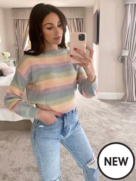michelle-keegan-ombre-slouchy-knit-jumper-multi