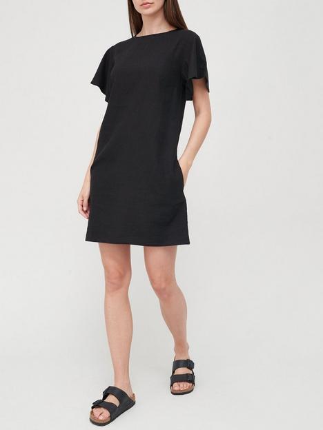 v-by-very-linen-blendnbspshift-dress-black
