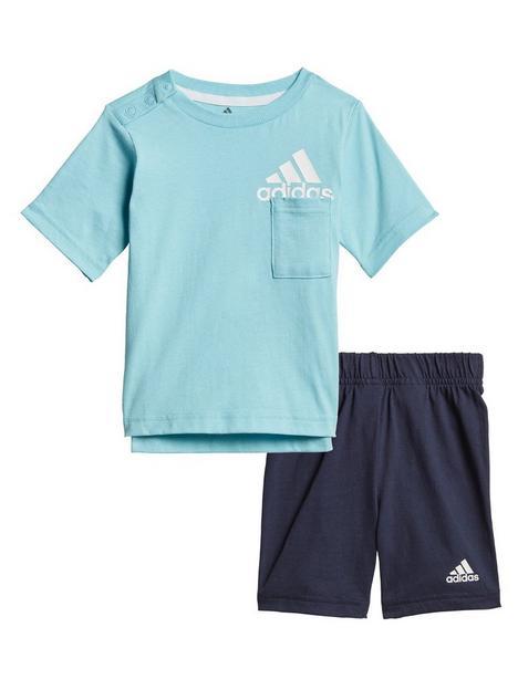 adidas-unisex-infantnbspbadge-of-sport-summer-set-blue