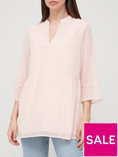 v-by-very-longline-pintuck-blouse-blush